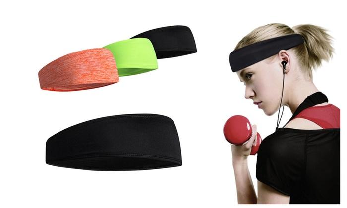 Men Women Sports Sweatband Headband Yoga Gym Stretch Workout Hairbands  323efa473ab