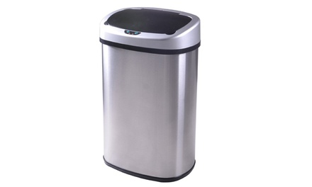 13 Gallon Touch-Free Sensor Automatic Stainless Steel Trash Can