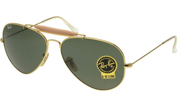 88c3b73618 Ray Ban Outdoorsman II Men Sunglasses RB3029 L2112 62 Gold   Green ...