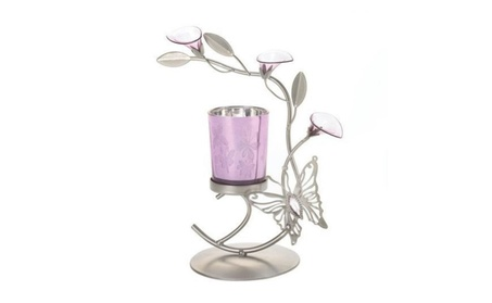 Home Locomotion Pink Butterfly Candleholder 01457a8f-460b-46cf-b4c4-a240993bebe7