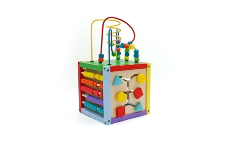 Wooden Bead Maze Cube Multipurpose Center Kids Educational Toy faa3fef6-25a8-430c-a99f-ccf4813ead4c