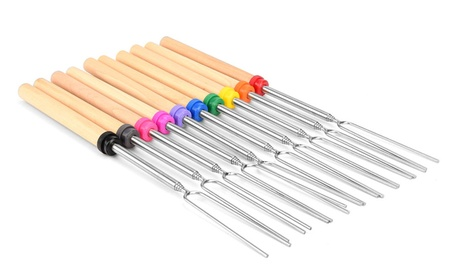 New Marshmallow Roasting Sticks Fire Roaster Sticks Set of 8 13500181-cdd1-4333-b628-fd27f0eec26f