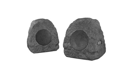 Innovative Technology Outdoor Rock Speakers, Pair of Two in Charcoal (Goods Electronics Home Audio Home Speakers) photo