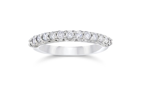 5/8Ct Diamond Wedding Ring 10K white Gold b01f64d6-b918-47f9-84c0-476d5800e44e