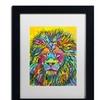 Dean Russo 'Lion Good' Matted Black Framed Art