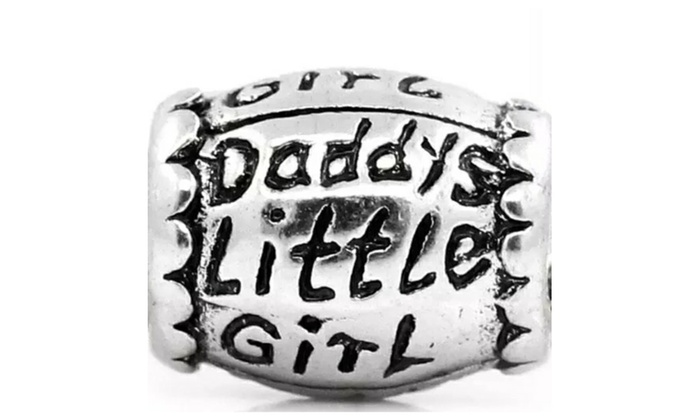 cfbbc5294 Pandora Fit Antique Sterling Silver Daddy's Little Girl Barrel Charm |  Groupon