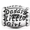 Pandora Fit Antique Sterling Silver Daddy's Little Girl Barrel Charm