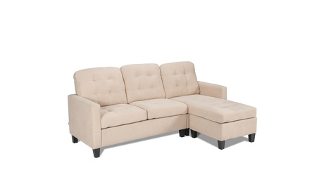 Costway L-shaped Convertible Sectional Sofa Couch with Reversible Chaise