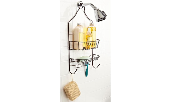Bath Bliss Contoured Head Design Shower Caddy In Bronze Groupon