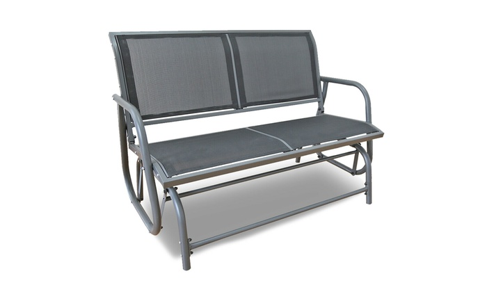 Out Y Outdoor Glider Bench Patio Swing, Outdoor Rocking Bench Seat