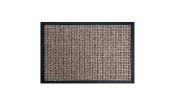 Rubber Cal Nottingham Carpet Front Door Mat   Brown, 59 X 35 X 0.38