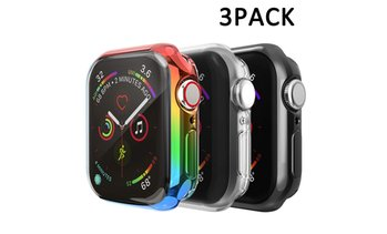 3 Pack Full Screen Protector Case for Apple Watch Series 1, 2, 3, 4, 5