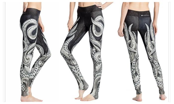 Wendell octopus print yoga leggings