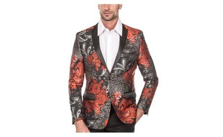 Men's Flower Design Blazer