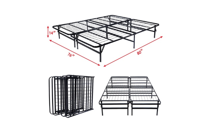 Costway Platform Metal Bed Frame Mattress Foundation 5 Size Box Spring