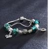 Italian Murano Beads Swarovski Elements Charm Bracelet - Six Styles