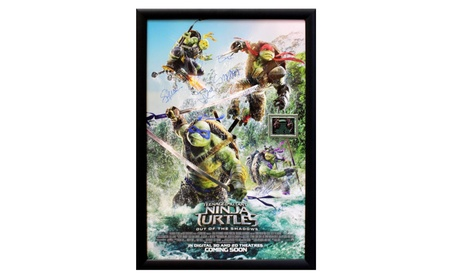 Teenage Mutant Ninja Turtles - Signed Poster in Wood Frame with COA c51740a0-d5b8-4cb1-877d-440be7b4e9f5