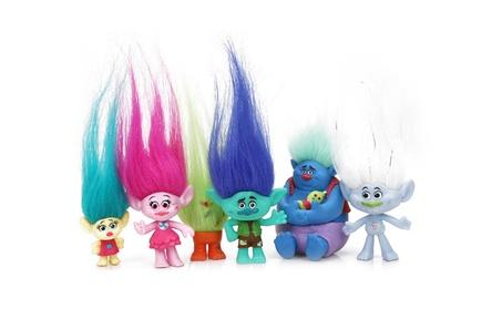 Trolls Doll Action Figure Toy Child Cartoon DreamWorks Toys Gift 6Pcs 67743945-f211-497c-90dd-330917dc735a
