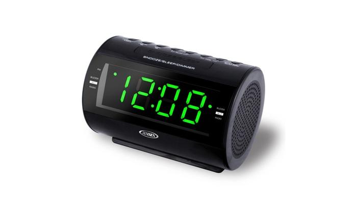 am fm dual alarm clock radio with nature sounds groupon. Black Bedroom Furniture Sets. Home Design Ideas