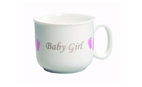 Pink 'Baby Girl' Footprint Keepsake Mug 984b2a9f-f78a-4926-852d-368dec970157