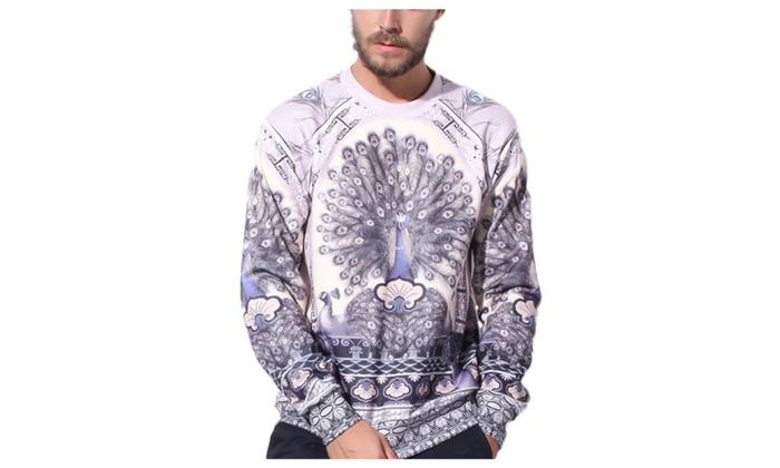 Men's Casual Pullover Graphic Slim Fit Fashion Sweatshirt