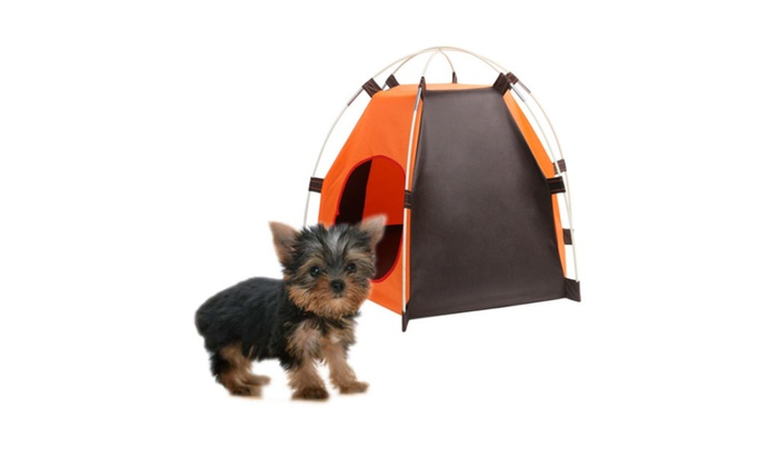 Pet Tent Bed House Indoor Outdoor Folding Removable and Washable  sc 1 st  Groupon & Pet Tent Bed House Indoor Outdoor Folding Removable and Washable ...