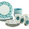 Rachael Ray Dinnerware Pendulum 16-Pc Stoneware Dinnerware Set, Print