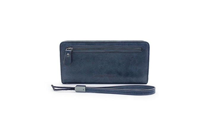 Women Clutch Wallet Leather Lady Purse Holder Case with Wristlet Strap