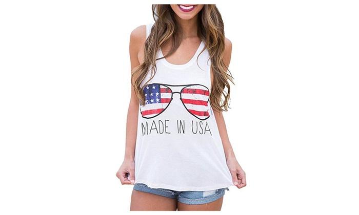 853d5695e9d0 Women s American Flag Crop Tops