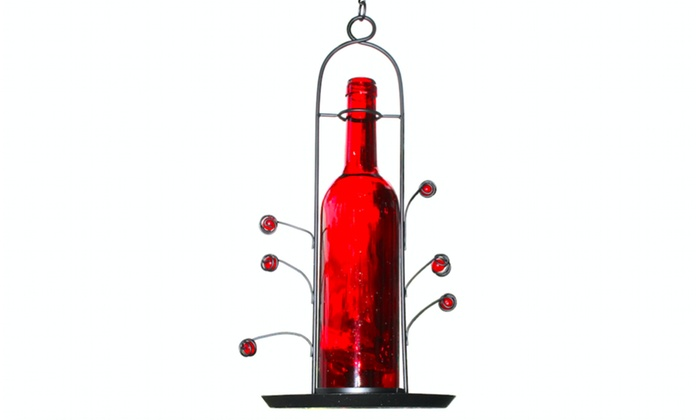 Up To 12 Off On Wine Bottle Bird Seed Feeder