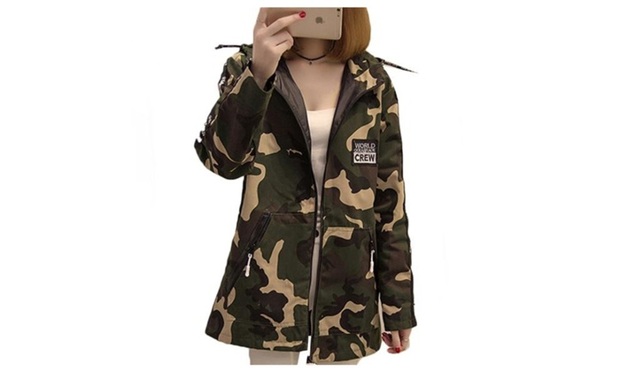 Women's Casual Hooded Loose Fit Zip Closure Coats