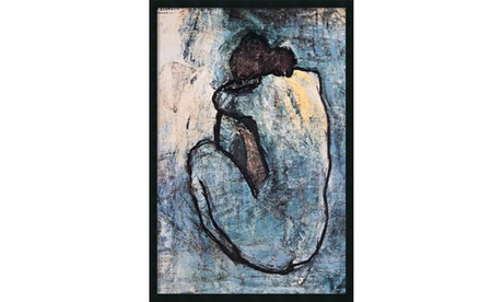 Picasso 'The Blue Nude (Seated Nude)' Framed Gel Coated Print 25x37-in 04e69d78-6db0-4463-9f26-da2fc2b80d88