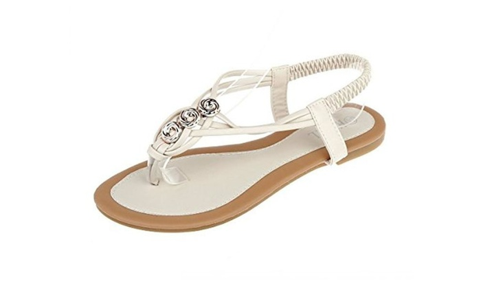 OrenMode Women's Casual Back Strap Flat Gladiator Sandals