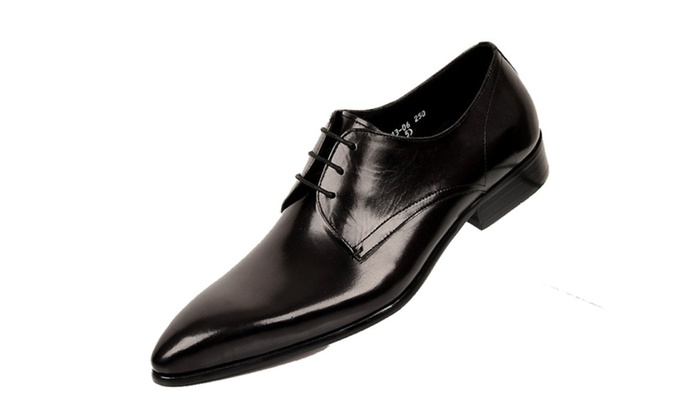 Men's Casual Low Heel Lace up Dress Shoes