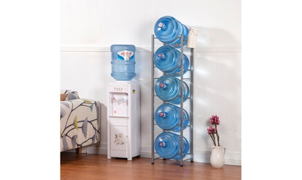 3/4/5-Tier Water Bottle Storage Rack Stainless Steel Heavy Duty Water Jug Rack