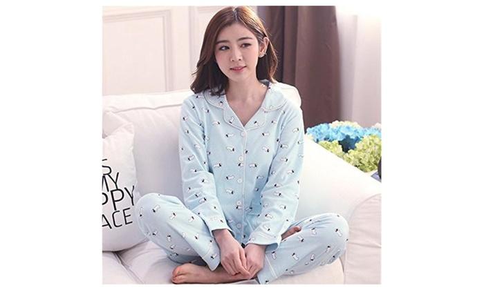 Womens Cotton Sleepwear Nightwear Sleep Lounge Charater