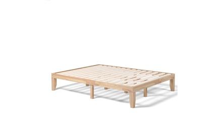 Costway Queen Size 14'' Wooden Bed Frame Mattress Platform