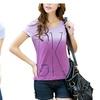 New Cotton Women Short Sleeve  O-neck Causal Loose Print T shirts