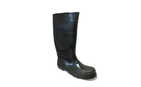 Ska Doo Mens Black Weatherproof Rubber Blazer Rain Boots Sizes 7-13