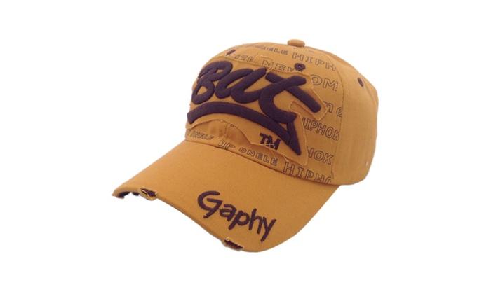 12 Colors Unisex Cotton Hat Letter Bat  Baseball Cap