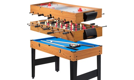 Costway 48'' 3-In-1 Multi Combo Game Table Soccer Billiards Pool Hockey For Kids