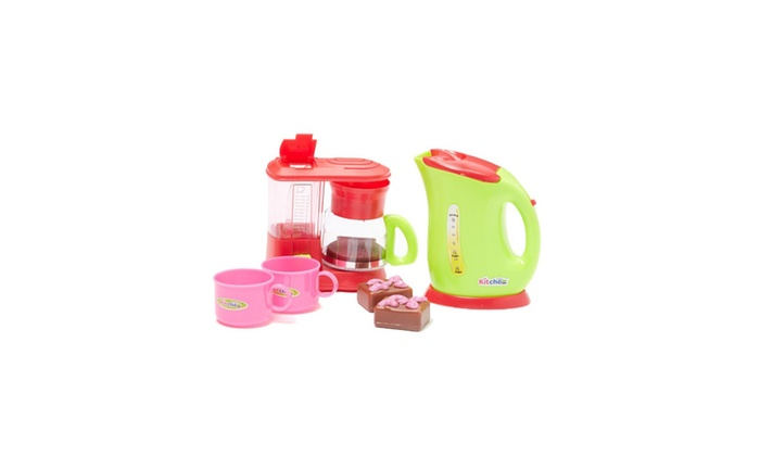 Ordinaire Pretend Play Toy Kitchen Appliances Playset W/dessert, Coffee Machine