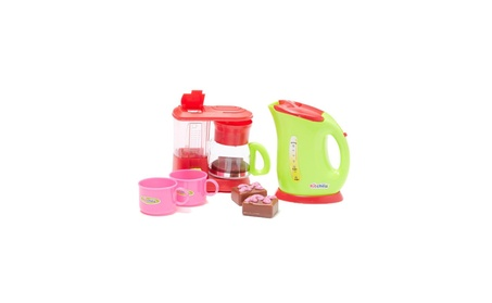 Pretend Play Toy Kitchen Appliances Playset w/dessert, Coffee Machine 90f0183e-9b93-4243-b436-daf5e515b13b