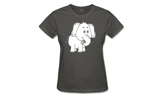HIDALGO's store: Women's The Elephant Sketch Summer Casual T Shirt