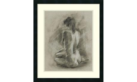Framed Art Print Charcoal Figure Study II, Ethan Harper: Outer Size23x27 694b3a42-976e-4b34-8a44-1a1405936f3e