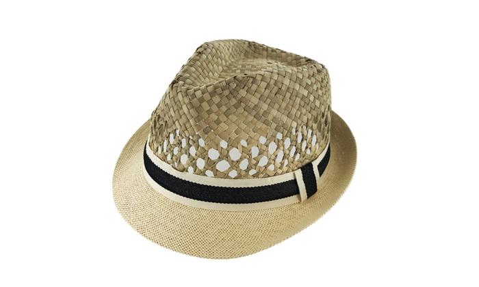 Faddism Extra Comfort Vent Master 190 Fashion Straw Fedora Hat