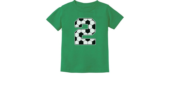 5f73eaee Tstars - 2nd Birthday Gift 2 Year Old Soccer Fan Toddler Kids T-Shirt