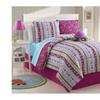 Bed in a Bag 2680 Girls Kids Bedding - Reversible Khloe Comforter Set Multi