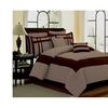 Bed in a Bag 2953 12 Piece Luxury Comforter Set - Georgia Taupe & Chocolate