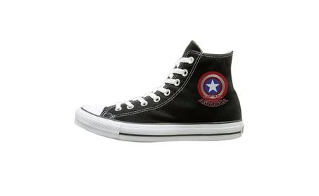 Captain America Logo Unisex High Top Canvas Shoes 3c2a130b-2f4a-4d06-9249-786207fcde86
